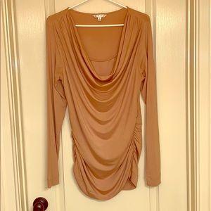 Cabi gold dressy blouse